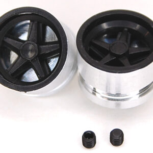 Rear wheel hubs for Porsche 917K with black inserts and M3 screws (2x)