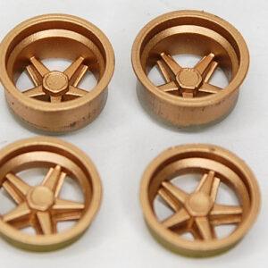 Wheel insert set for Porsche 917K - gold (2+2)
