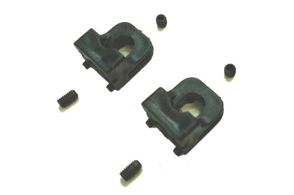 Front axle holders + screws (2 pieces)
