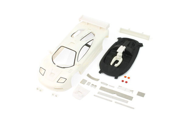 F1 GTR full white body kit with transparent painted parts and lexan cockpit