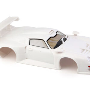 Porsche 911 GT1 full white body kit with transparent painted parts and lexan cockpit