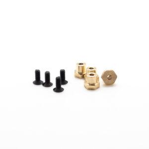 "MINICARS - Brass ""nut"" H3.0mm - (x4)"