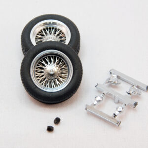 set of classic wheels with tires (front 20x7) - for 2,5mm axles (2x)