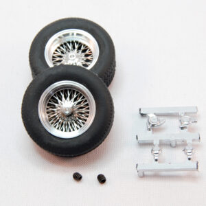 Set of classic wheels with tires (rear 22x9) - for 2,5mm axles (2x)