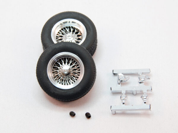 """Set of classic wheels with tires (rear 22x9) - for 3/32"""" axles (2x)"""