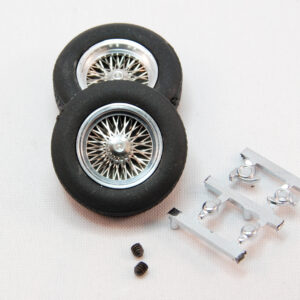 """Set of classic wheels with tires (front 22x7) - for 3/32"""" axles (2x)"""